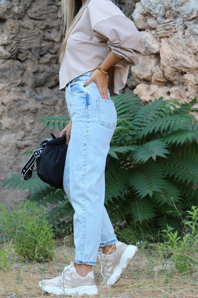 Açık Renk Exstra Yüksek Bel Jean