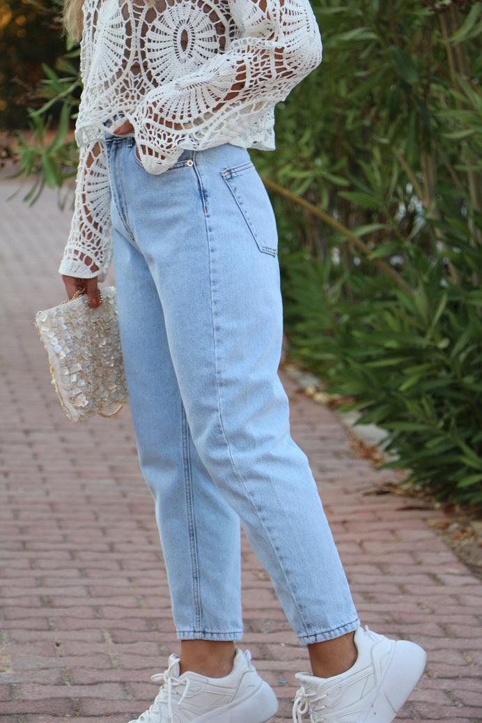 Arka Dikiş Detaylı Premium Mom Jean