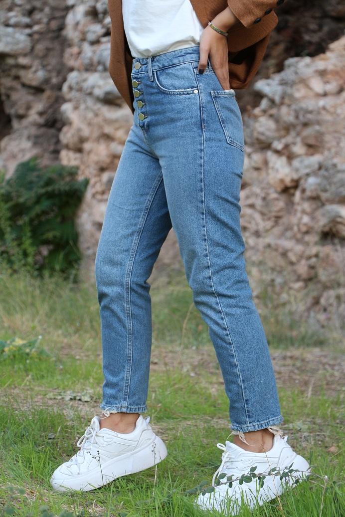 Düğme Detay Jean