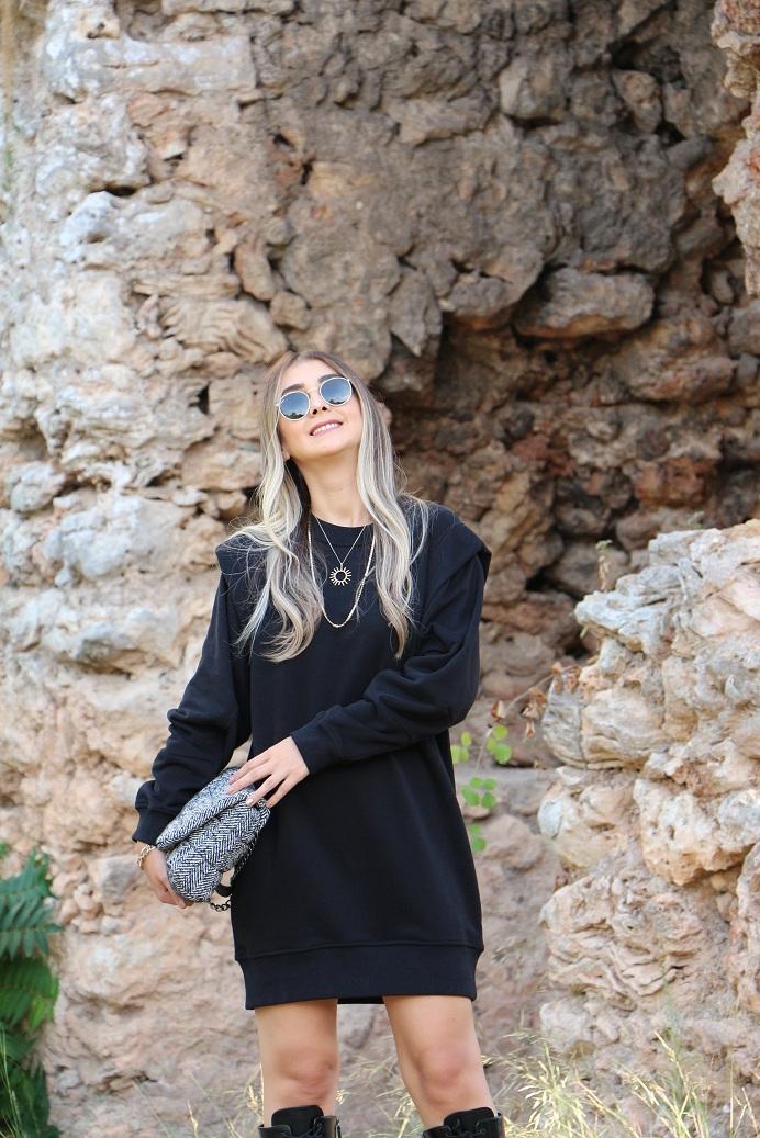 Siyah Sweat Elbise