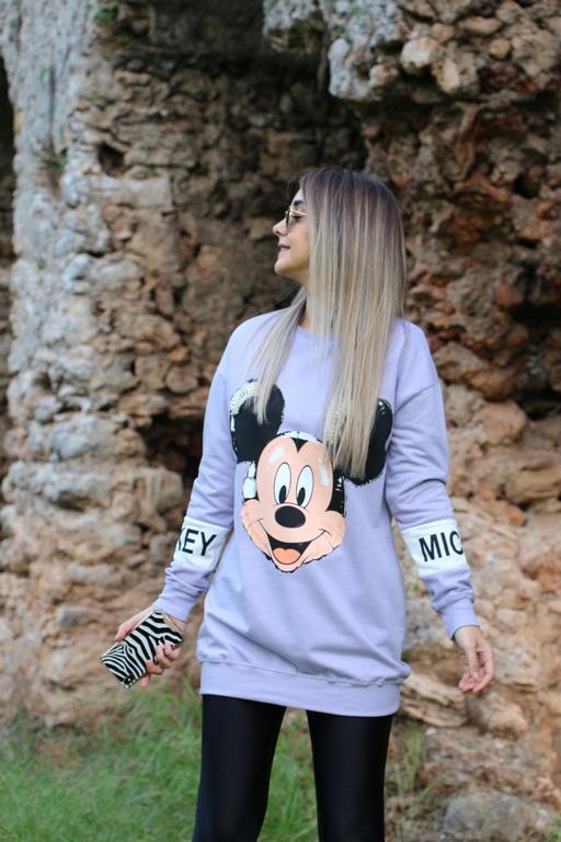 Lila Mickey Sweat